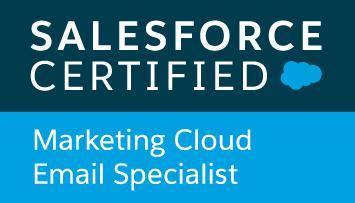 Saleforce Certified Marketing Cloud Email Specialist